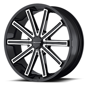 KMC Wheels KM681 Nerve 6 Gloss Black Machined