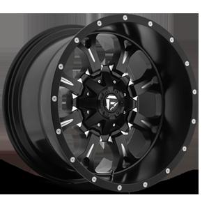 Fuel Deep Lip Wheels Krank - D517 5 Matte Black & Milled