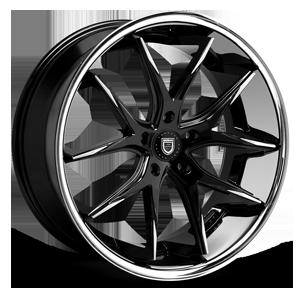 R-12 Black & Machined/Chrome Rim 5 lug