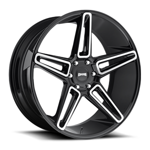 Lit - S203 Gloss Black with Brushed Face 6 lug