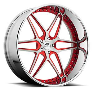 Luxen Brushed with Red 5 lug