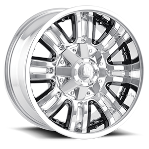 Assault Chrome w/ Black Inserts 8 lug