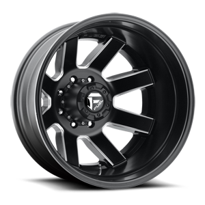 Maverick Dually Rear - D538 Black & Milled 8 lug