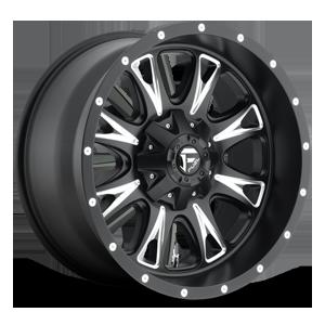 Throttle - D513 Matte Black & Milled 8 lug