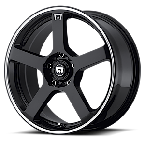 Motegi Racing MR116 5 Gloss Black w/ Machined Flange