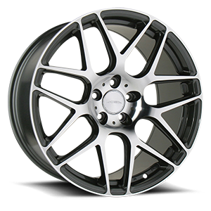 Mesh 7 Mica Grey with Machined 5 lug
