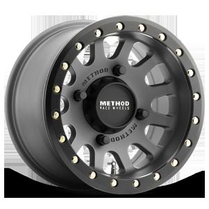 MR401 Titanium with Matte Black Ring 4 lug