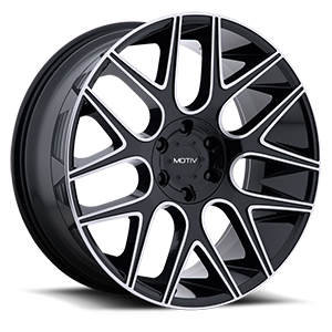 421 Medallion Gloss Black with Mirror Machined Face and Lip Accents 6 lug