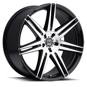 Motiv Luxury Wheels 414 Modena 5 Mirror Machined Face with Gloss Black Accents
