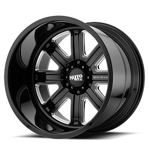 MO402 Gloss Black Milled 8 lug