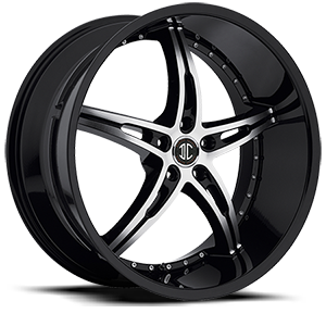2 Crave Alloys No14 5 Black w/Machined Face Black Lip