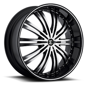 2 Crave Alloys No1 5 Gloss Black w/ Machined Face and Pin Stripe