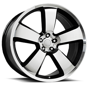 119 Machined Face and Lip with Gloss Black Accents 5 lug