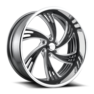 OUTRAGE 6 - U490 Polished w/ Gloss Black Face 6 lug