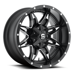 Lethal - D567 Black & Milled 5 lug