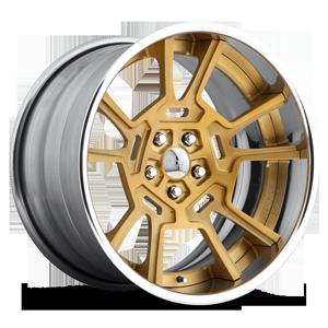 Pantera - F419 Matte Gold w/Polished Lip 5 lug