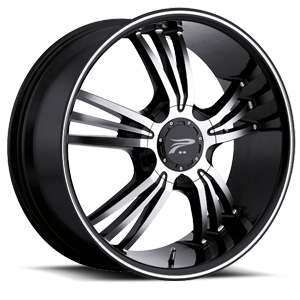 122 Wolverine Gloss Black with Diamond Cut Face 4 lug