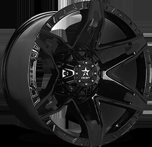 70R Quantum Gloss Black 8 lug