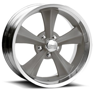 R13 Booster Gray Paint Center / Machined Outer 5 lug