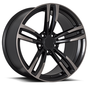 R163 Black Dark Machined 5 lug