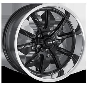 Ridler Wheels 650 5 Matte Black w/ Polished Lip