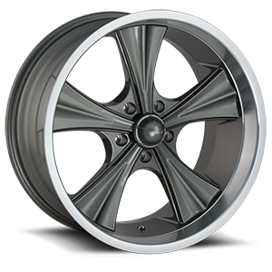 Ridler Wheels 651 5 Grey with Machined Lip
