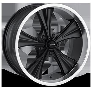 Ridler Wheels 651 5 Matte Black with Machined Lip