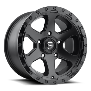 Ripper - D589 Matte Black | Gloss Black Lip 5 lug