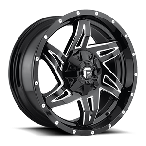 Rocker - D613 Gloss Black & Milled 5 lug