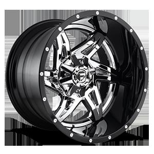 Fuel 2-Piece Wheels Rocker - D272 5 Chrome with Gloss Black Lip
