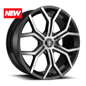 Royalty - S209 Matte Black w/ Machine DDT 6 lug