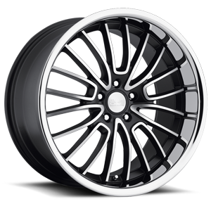 RS - 20 Gloss Black with Machine Cut Face 5 lug