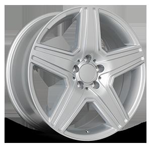 R166 Silver 5 lug