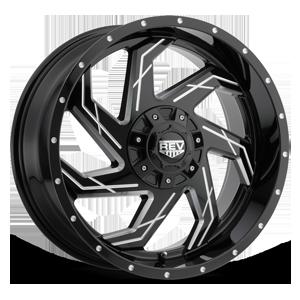 895 Gloss Black Milled 6 lug