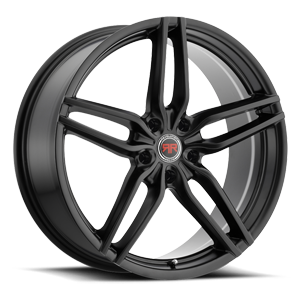 R14 Satin Black 5 lug