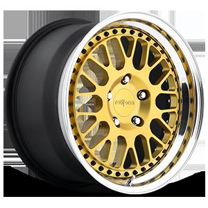 LVS Matte Gold w/Polished Lip 5 lug