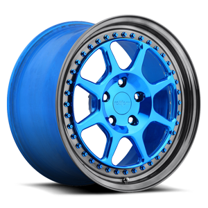 SLC Candy Blue Over Polish 5 lug