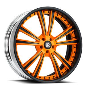 Raggio Orange and Black 5 lug