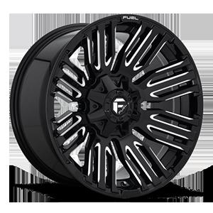 Schism - D649 Gloss Black & Milled 5 lug