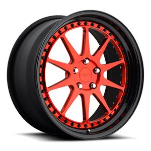 SCN Candy Red over polish 5 lug