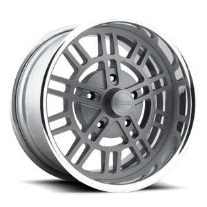Shelby - F218 Anthracite w/ Polished Lip 5 lug