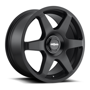 SIX - Cast 1 Piece Matt Black 5 lug