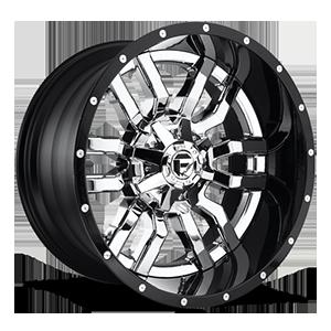 Fuel 2-Piece Wheels Sledge - D270 5 Chrome with Gloss Black Lip