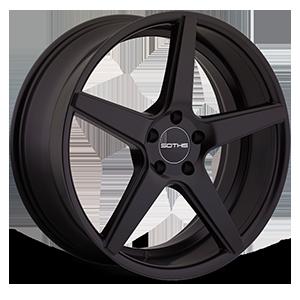 SC005 Flat Black 5 lug