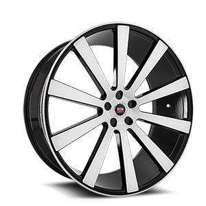 SPL-002 Gloss Black Brushed 5 lug