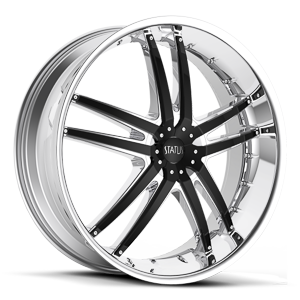 S820 Fang Chrome with Gloss Black Inserts 5 lug