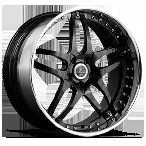 SV2 Black with Chrome Lip 5 lug