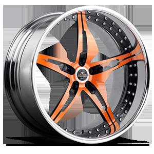 SV10 Orange with Chrome Lip 5 lug