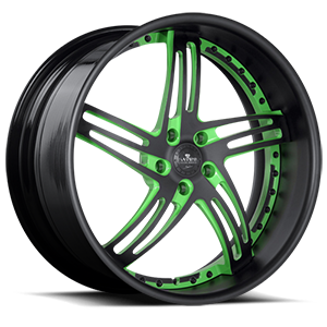 SV20-S Black and Green 5 lug