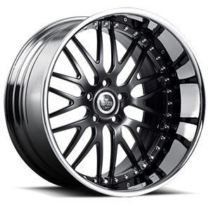 SV25 Black with Chrome Lip 5 lug